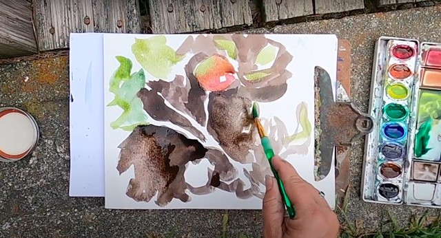 Negative Shapes in Watercolor