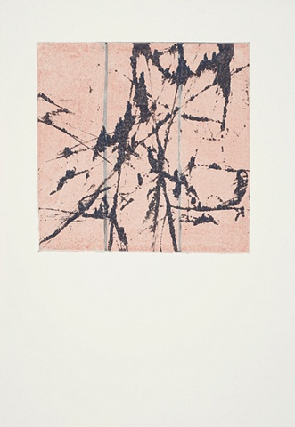 Monoprint - Between #17