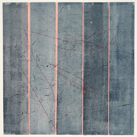 Monoprint - Between #15