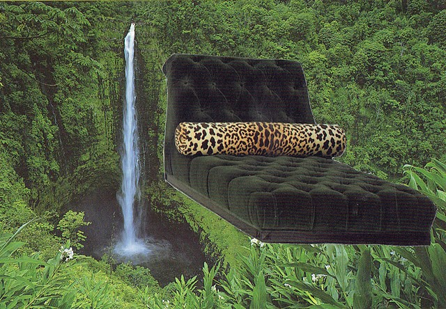 Alaska Falls and Chez Lounge with Jaguar Pillow 1990/2015