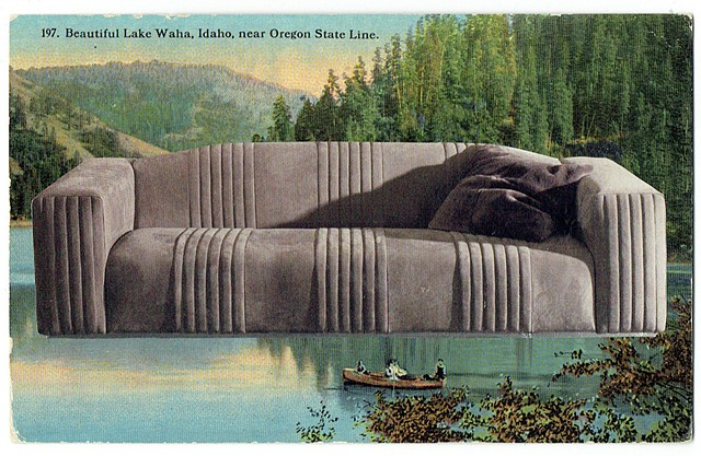 It confers dynamism (Beautiful Lake Waha and Rugiano Cadillac Sofa) 1940 /2016