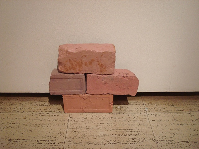 "Installation shot, ""Painted Bricks"", Jane Fox Hipple, 2010"