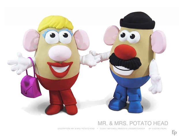 MASCOT, COSTUME, MR. AND MRS. POTATO HEAD