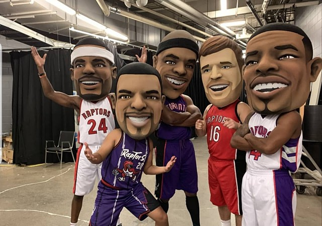 Toronto Raptors Alumni Mascot Heads commissioned by MaydwellMascots for the Toronto Raptors