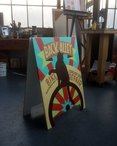 Back Alley Bikes- Sandwich Board