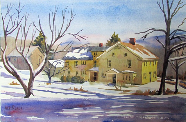 Clay Farmhouse in Winter