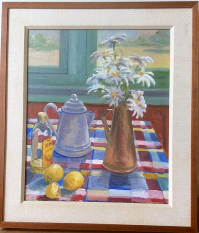 Daisies and Coffee Pot