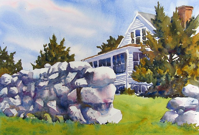 This watercolor won a Blue Ribbon at the All Island Art Show, August 2015