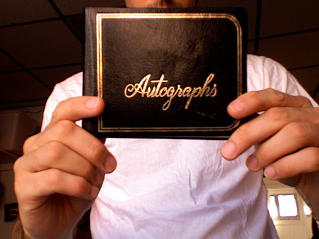 Rescued: autograph book found on 10th St. with Ryan in South Philadelphia, PA