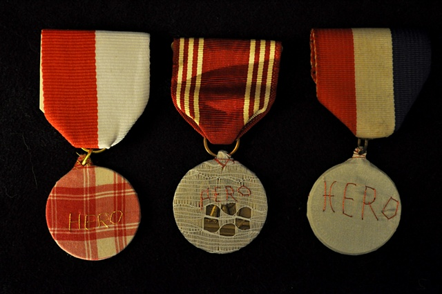 Kickstarter rewards: Stuff Hero plaid, lace, and silk medals