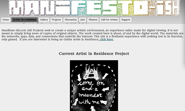 Manifesto-ish virtual residency
