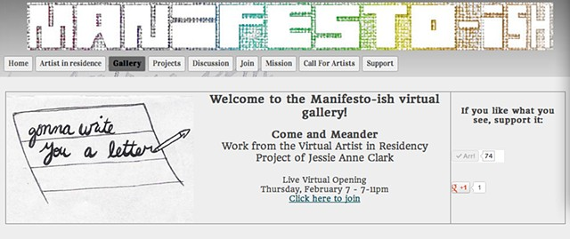 Manifesto-ish virtual gallery