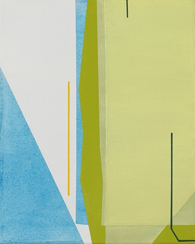 Untitled (lime and chartreuse abstraction)
