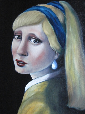 VERMEER DUTCH GIRL HOLLAND PEARL EARRING
