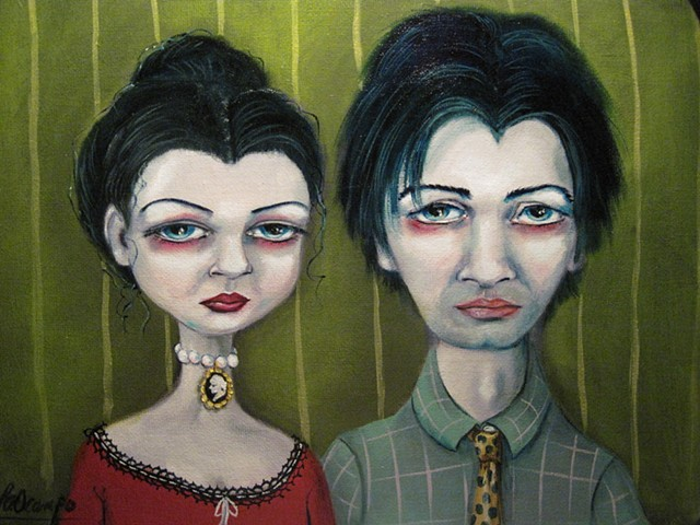 CREEPY SURREAL FOLK ART LISA OCAMPO GOTHIC MODERN
