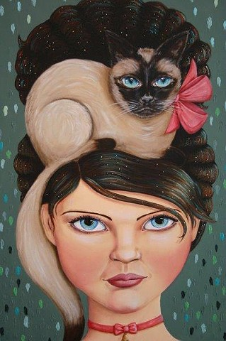 "CAT-EYED AND COIFFED ""sold"""