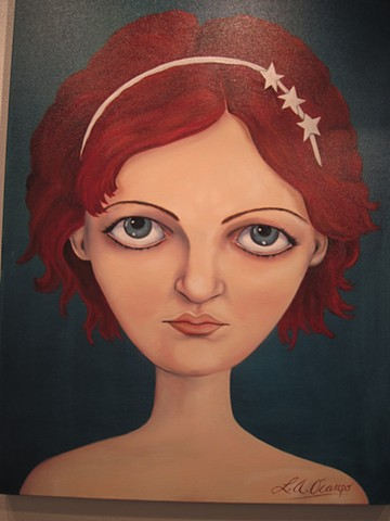 BIG HEAD PORTRAIT RED HAIR NEW ART