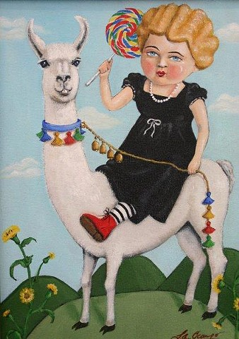 "DOLLY LLAMA ""sold"""