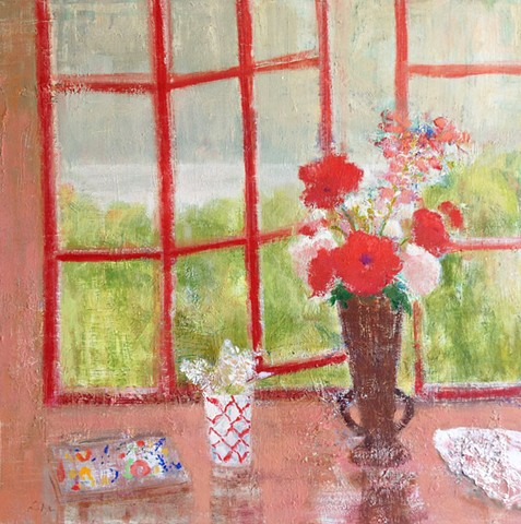 Virginia Vase of Poppies