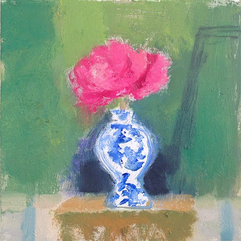 Peonies in China Vase