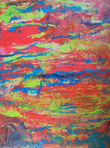 encaustic painting on wood panel