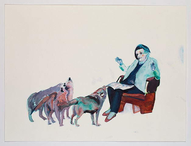 Ayn Rand Reads to Wolves