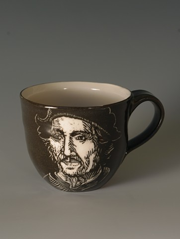 Tea Cup with Hieronymus Bosch (from Tea Service for Kings of the Subconscious)