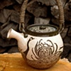 Teapot with Peacocks and Chrysanthemums