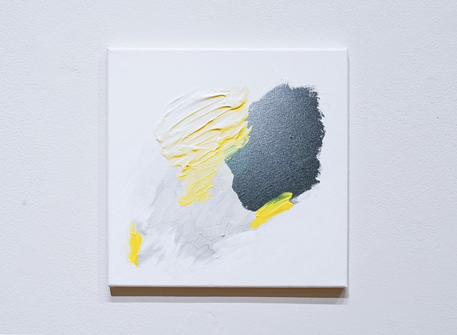 Untitled (Black, Gray, and Yellow Square)