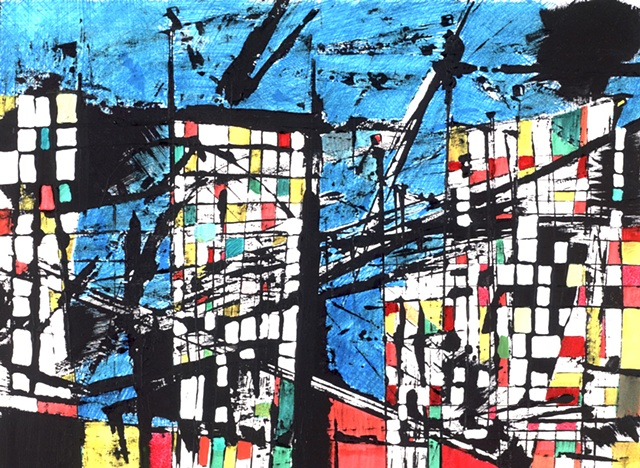 abstract cityscape 1