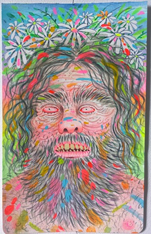 Messy Painter Hippy Mountain Man