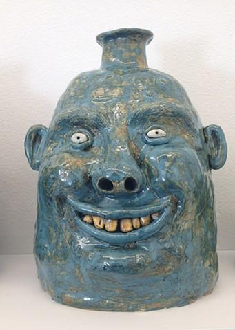 Blue Face Jug
