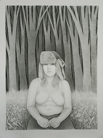 Self Portrait with Hunting Cap