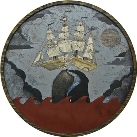 Tom Keating, alternate moby dick, brooklyn, portland, art, artist , tom keating, wayfarers, whales