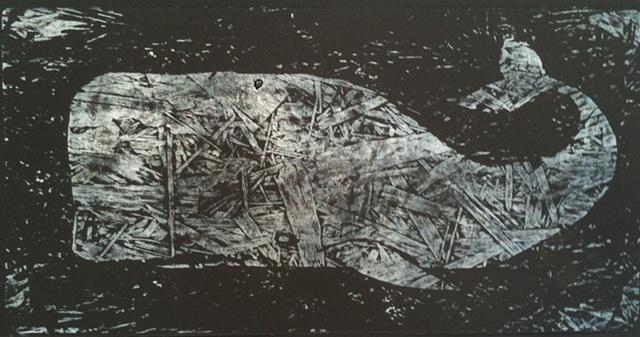 Tom Keating Whale Art Portland Brooklyn woodcut