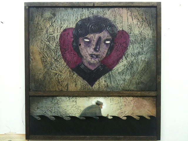 tom keating art brooklyn wayfarers mixed media portland
