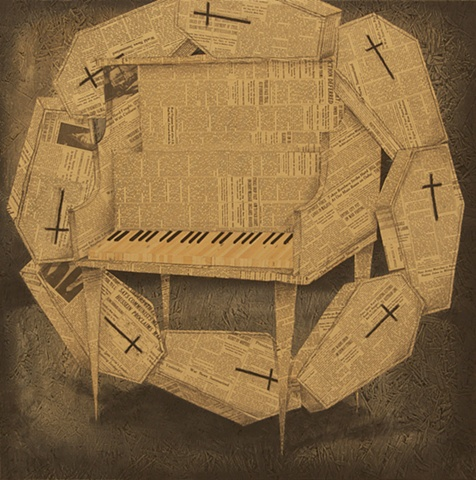 tom keating art haunting melody piano painting