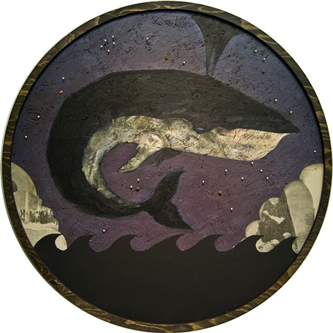 Whales, Alternate Moby Dick, Brooklyn Art, Portland, Tom Keating, Wayfarers