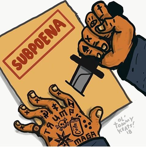 Trump political cartoon tom Keating illustration