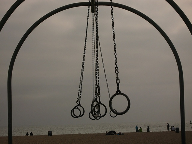 Santa Monica California Dusk Swing