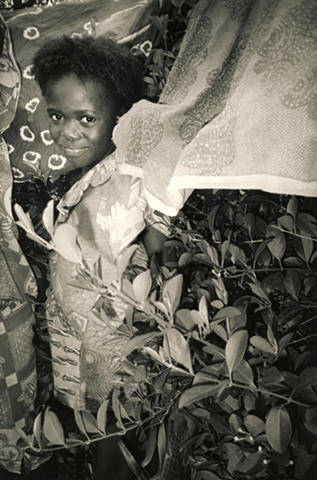 Girl with Laundry, Ivory Coast Africa, Cote de Ivoire