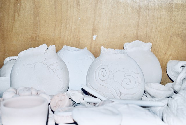 Kiln Stories (before firing)
