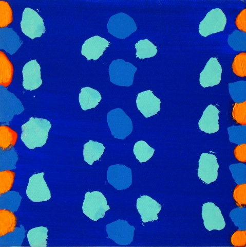 Untitled (blue/orange)