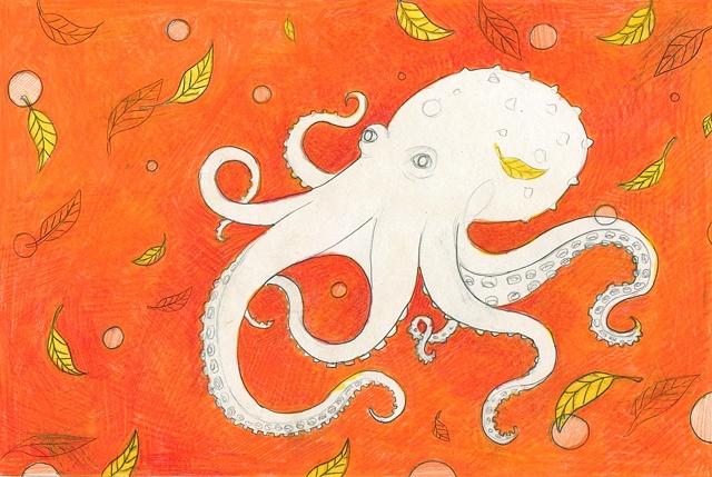 In progress octopus drawing.