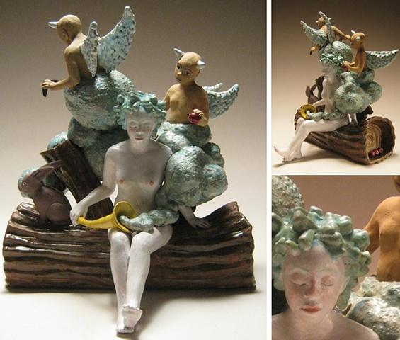 Clouds and illusions (ceramic teapot).
