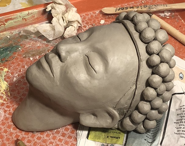 More clay faces in progress today.