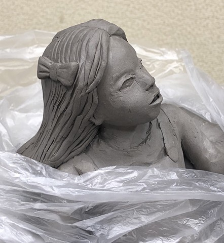In progress clay sculpture.