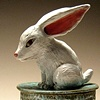 Rabbit box (lidded vessel).