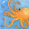 Octopus drawing.