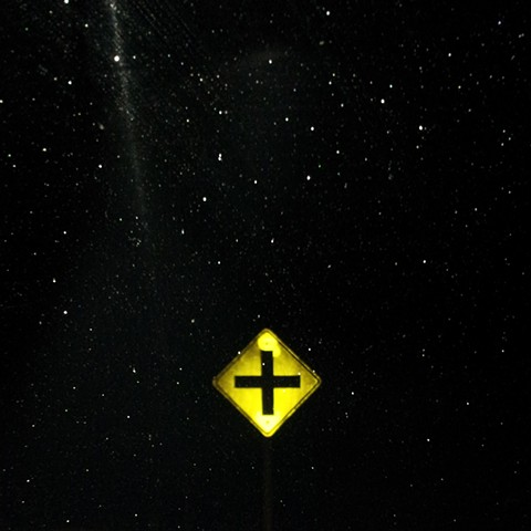 CROSS STREET SIGN MAX HELLER X ART PHOTO